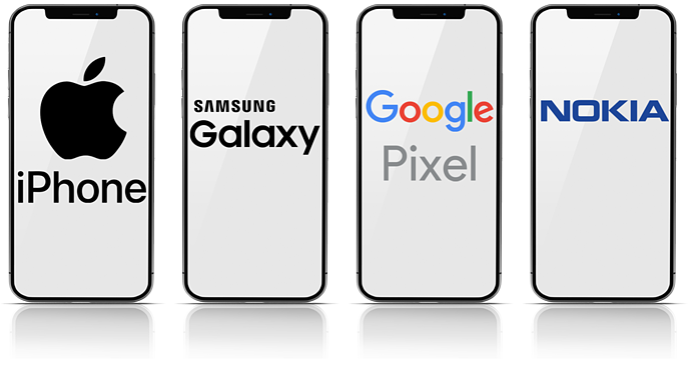 Mobile-Endgeräte-Collage
